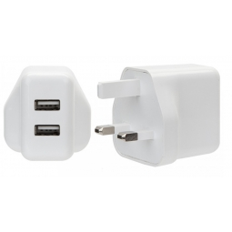 Juice Bank 2.4A 2 Port USB Charging UK 3 Pin Plug