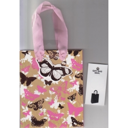Pink&Brown Butterfly Gift Bag
