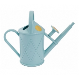 Haws Heritage Indoor House Plant Plastic Watering Can Fine Spray 1L Duckegg Blue